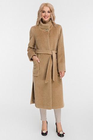 f305e89bbca Длинное женское пальто на высокий рост с воротником-стойкой