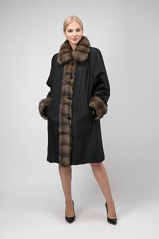 Купить женское пальто с соболем в интернет магазине ПокупкаЛюкс 41ad7f76dd1f6