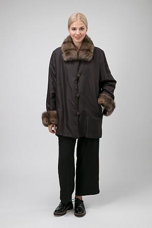f259a1f4322b Купить комбинированное женское пальто в интернет магазине ПокупкаЛюкс