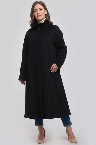 081145f1669 Итальянское расклешенное пальто с мехом норки