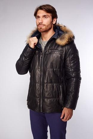 d29082cf073 Купить длинную мужскую кожаную куртку в интернет магазине ПокупкаЛюкс