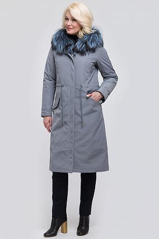 1643a08beb4 Длинное зимнее пальто на меху прямого кроя. 44