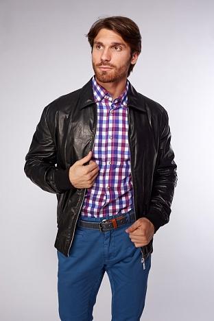 09b56a79030 Купить мужскую кожаную куртку AFG в интернет магазине ПокупкаЛюкс